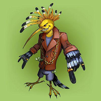 Прикольная картинка - почему птица удод никого не боится