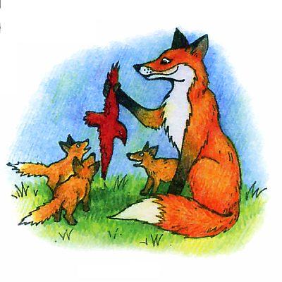 Как волки и лисы воспитывают детёнышей?