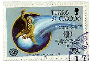 Эдмунт Галлей - почтовая марка