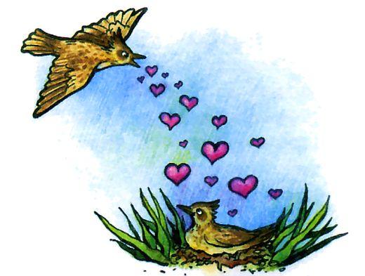 Как поют разные птицы - жаворонок поет в полете!