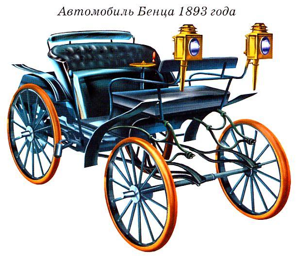 Самоходная коляска образца 1885 года.