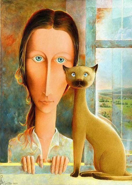рассказ про кошку и ученого