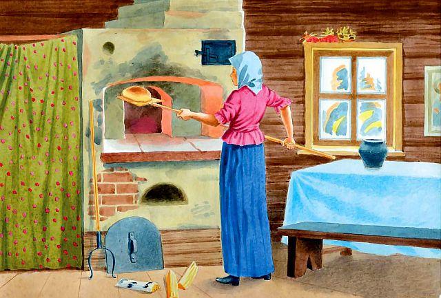 Как пекли хлеб в старину