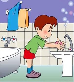 О том, как правильно мыть руки - картинки для детей