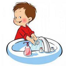 Как правильно мыть руки в картинках для детей