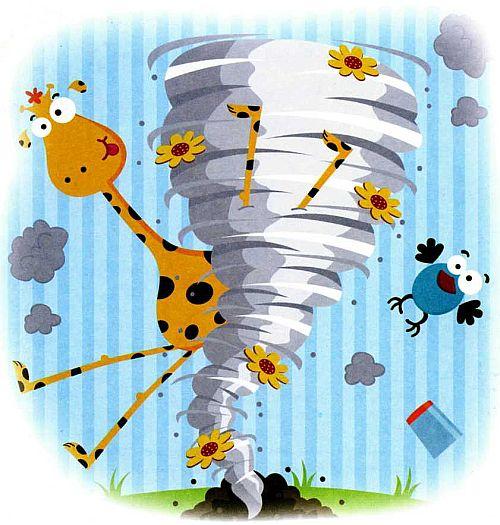 Веселые картинки - Про смерч - торнадо