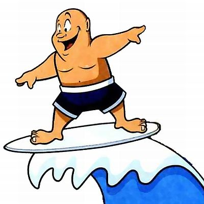 Смешные картинки про волны на море