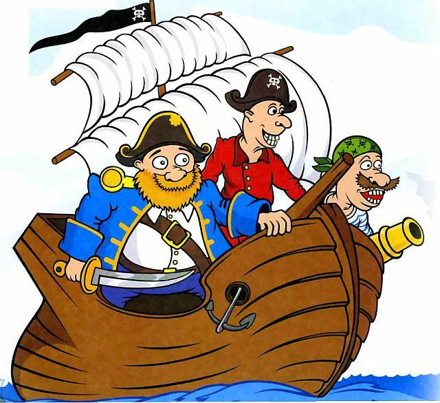 Каравеллы вперед. Смешные картинки про пиратов.