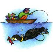Каких птиц люди используют для рыбной ловли?