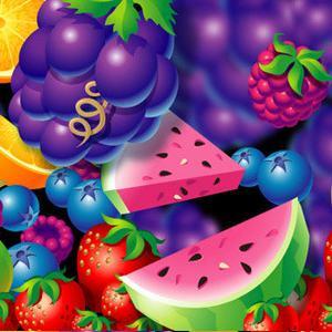 Микс из ягод с виноградом