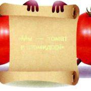 томат и помидор, не родственники, а однофамильцы на разных языках