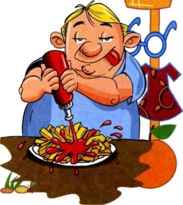 Карикатура на кетчуп