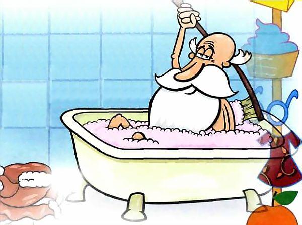 Смешные картинки - дедушка в ванной